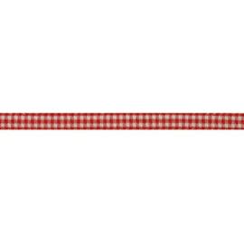 Lint rood geruit | 5mm - 1meter