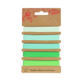 Grosgrain lint Groen | 10mm - 5x1m