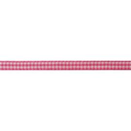 Lint roze geruit | 5mm - 1meter