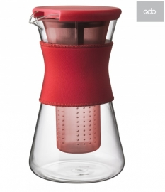 Hot & Cool Pitcher, 1,2 liter karaf rood
