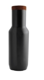 Karaf mat zwart RVS geborsteld