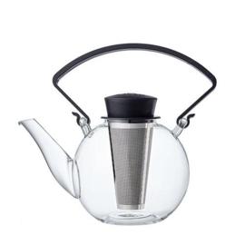 Tea 4 U theepot met zwart cliphandvat, 1 liter
