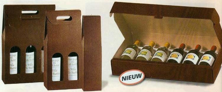 Cadeauverpakking voor 3 flessen bruin