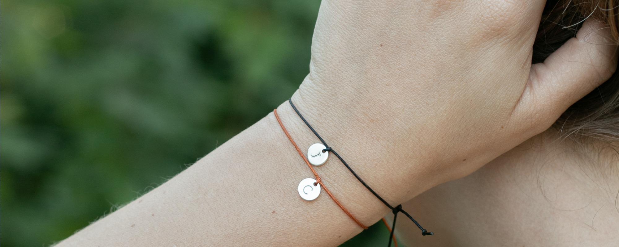 Initiaal armband