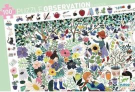 Djeco - DJ07591 observatiepuzzel  - 1000 bloemen