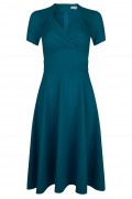Very Cherry -  Very Cherry Hollywood Circle dress Crievo Teal