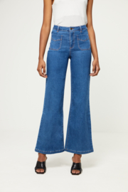 Surkana Wide trousers with front pockets blue