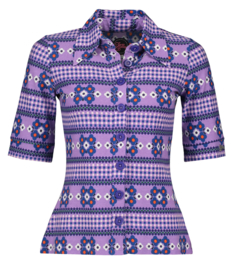 Tante Betsy-Button shirt Scandi - purple
