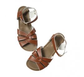 Saltwater sandals tan