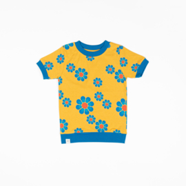 AlbaKid -  Vesta T-shirt - Bright Gold Flower Power Love