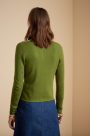 King Louie  Cardi roundneck Cocoon - Posey Green