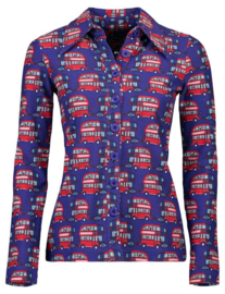Tante Betsy-Button shirt London - purple