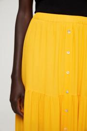 Surkana buttoned long skirt yellow