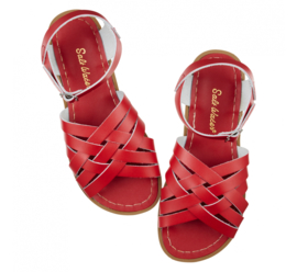 Saltwater sandals retro red