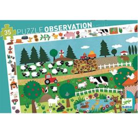 Djeco - DJ07591 observatiepuzzel  - de boerderij