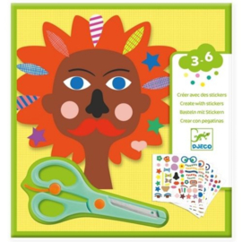 Djeco - creeeren met stickers -  kapper