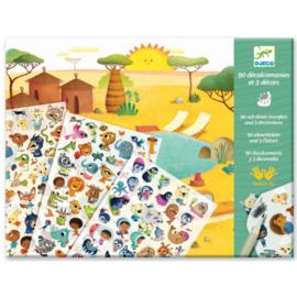 Djeco -  krasplaatjes - savanne