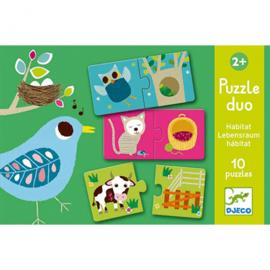 Djeco - duo puzzel habbitat