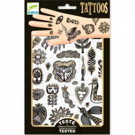 Djeco - tattoos - golden chic