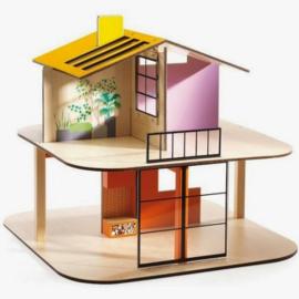 Djeco houten poppenhuis colour DJ07803