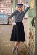 Very Cherry - Circle Skirt Black