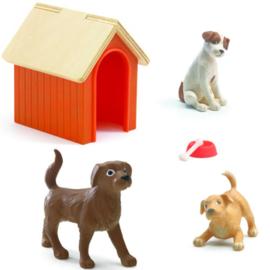 Djeco hondenhok en hondjes DJ07818