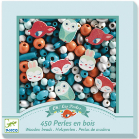Djeco - houten kralen - kleine dieren  DJ09807