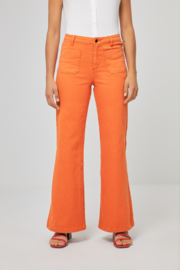 Surkana Wide trousers with front pockets orange