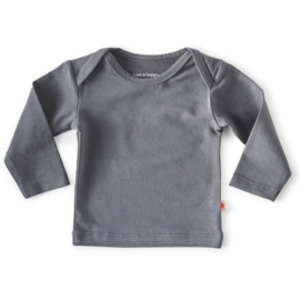 Little label baby shirt anthracite