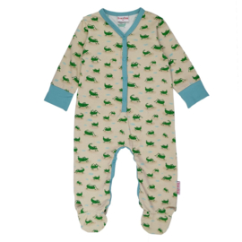 Ba*Ba Full  Footed bodysuit - Grasshopper