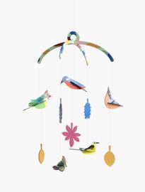 Garden birds mobile