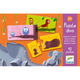 Djeco - duo puzzel  mama en baby