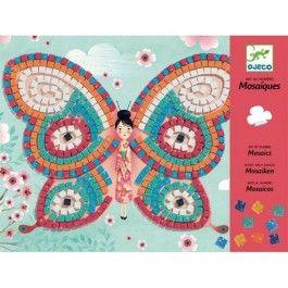 Djeco -mozaik - kunst op nummer - vlinder DJ08898