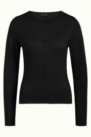 King Louie  Cardi roundneck Cocoon - Black