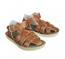 Saltwater sandals shark tan