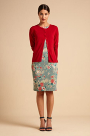 King Louie  Cardi roundneck Cocoon - Icon Red