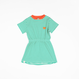 AlbaKid Kaya Dress - Pepper Green Magic Stripes