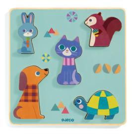 Djeco relief puzzel - Moustacha DJ01060