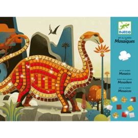 Djeco -mozaik - kunst op nummer - dinosaurs DJ08899