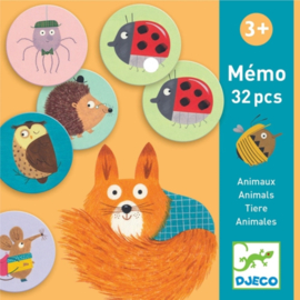 Djeco - memorie Animals 32 Pcs DJ08116