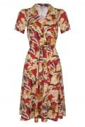 Very Cherry - Revers Dress Hibiscus Flowers
