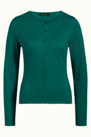 King Louie  Cardi roundneck Cocoon - Para Green