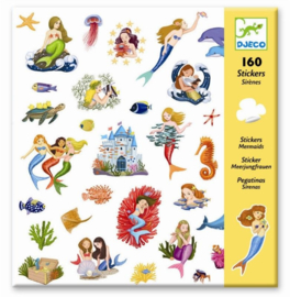 Djeco - stickers - mermaids