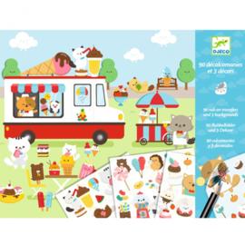 Djeco -  krasplaatjes - suikerland