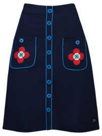 Tante Betsy  button skirt  -  blue