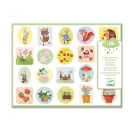 Djeco -  grote stickers - in de tuin