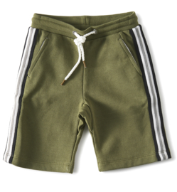 Little label  shorts contrast- olive green