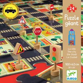 Djeco  grote puzzel - de stad