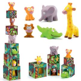 Djeco - stapelblokken  jungle dieren DJ09101