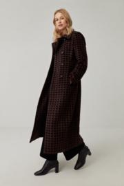Surkana Fitted Long Coat Negro